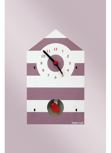 Peoples Clock Kuşevi Sallanan Sarkaçlı Çocuk Odası Duvar Saati Renkli